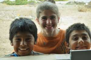 Ellie with Alejandro on the left (the middle child of the family we were building for) and Adrian (Rodolfo's son)